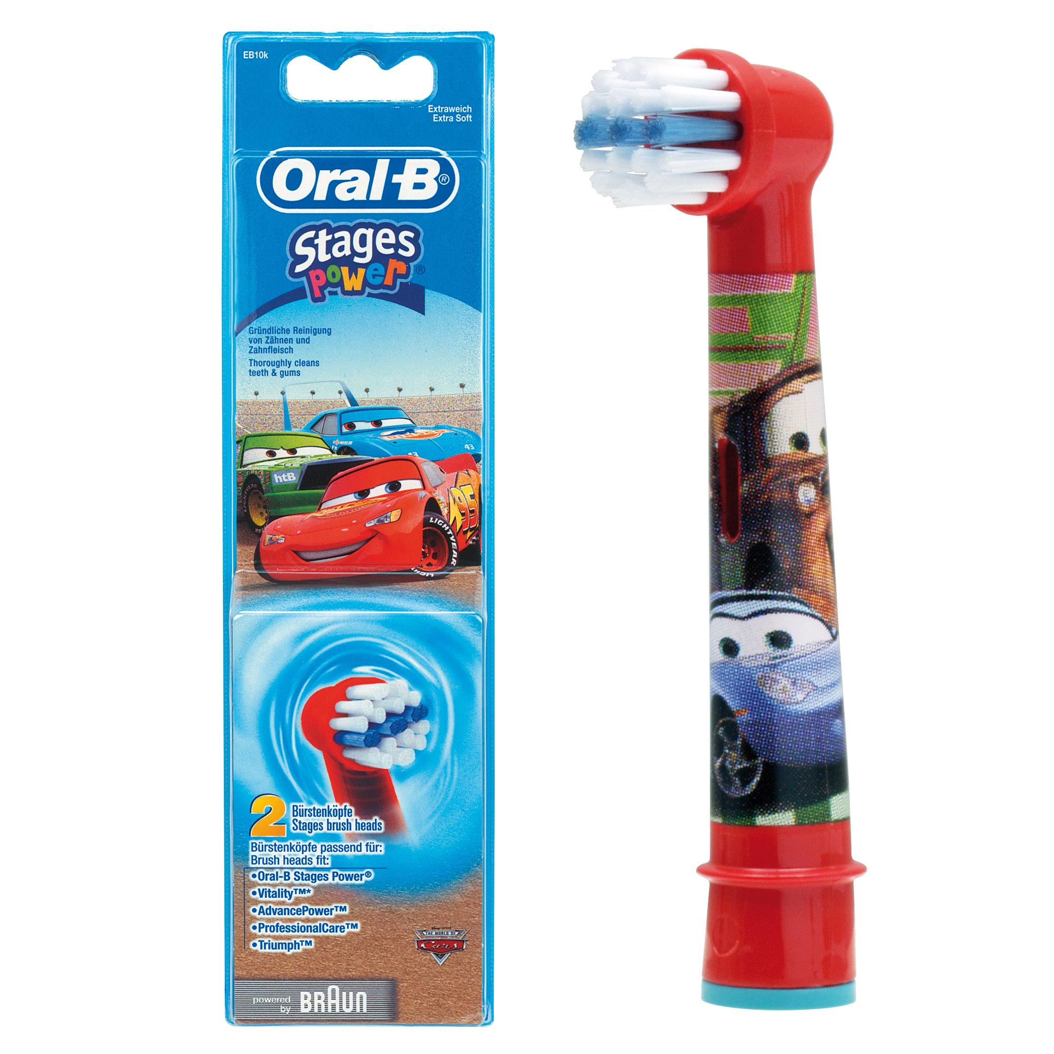 Końcówki Do Szczoteczki Dla Dzieci Oral B Motyw Auta Cars 1 Sztuka